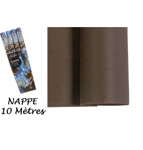 NAPPE INTISSE CHOCOLAT 10 M